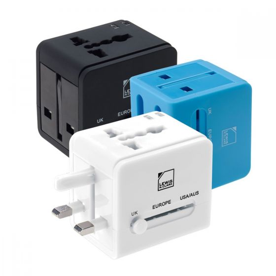 Lewis N Clark Global Adapter w/USB Charger
