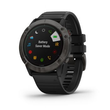 GARMIN FENIX 6 - PRO AND SAPPHIRE CARBON GRAY DLC WITH BLACK BAND
