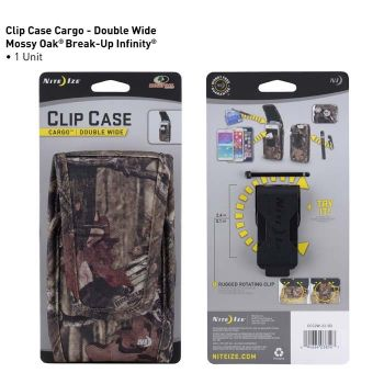 Clip Case Cargo Double Wide - Mossy