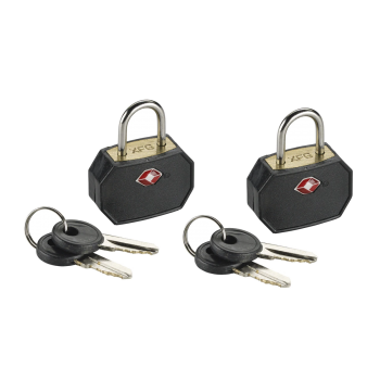 LCI TSA Mini Padlock Set Black 2pk